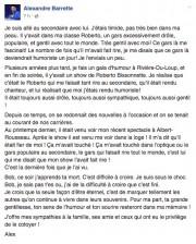 Message d'Alexandre Barrette... (Tirée de Facebook) - image 4.0