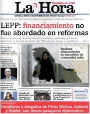 Le quotidien La Hora faisait était hier des... (IMAGE TIRÉE DE L'INTERNET) - image 2.0