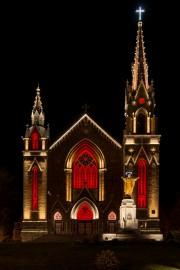 La mise en lumière de l'église Sainte-Agnès, de... (Photo fournie) - image 1.0