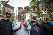 Des opposants à la réforme de l'aide sociale... (IVANOH DEMERS, LA PRESSE) - image 7.0