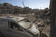 Le quartier Ansari, contrôlé par les rebelles, a... (PHOTO KARAM AL-MASRI, AFP) - image 3.0