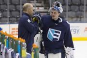 L'entraîneur d'Équipe Europe, Ralph Krueger, se fie surJaroslavHalak... (La Presse canadienne, Chris Young) - image 2.0