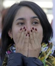 Une Colombienne en faveur de l'accord de paix... (AP, Ricardo Mazalan) - image 2.0