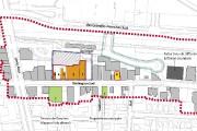 La démolition de cinq bâtiments, la reconstruction du... (Maquette fournie par la Ville de Sherbrooke) - image 1.0