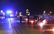Un enquêteur en reconstitution d'accident est arrivé sur... (Photo Le Quotidien, Rocket Lavoie) - image 1.1