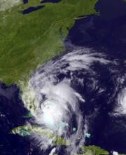 Vue satellite de l'ouraganMatthewjeudi en fin d'après-midi... (AP) - image 3.0