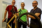 Loïc Dehoux, Pierre Laplante et Nicolas Goupil avec... (Photo André Pichette, La Presse) - image 2.0