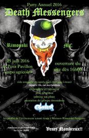 Une affiche du «party annuel 2016» des Death... - image 2.0