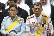 La princesse Sirindhorn et leprince Vajiralongkorn avaient assité... (AP, Michel Kooren) - image 4.0