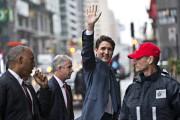 Justin Trudeau à son arrivée à Montréal.... (Photo Patrick Sanfaçon, La Presse) - image 1.0