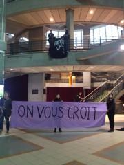 Le Comité femmes ULaval a affiché une banderole... (Facebook) - image 2.0