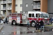 Les pompiers de Saguenay sont intervenus sur rue... (Photo Le Quotidien, Jeannot Lévesque) - image 3.0