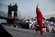 Hillary Clinton faisait campagne à Cincinnati, lundi.... (AP, Andrew Harnik) - image 3.0