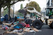 Le campement parisien a déjà connu deux évacuations... (PHOTO JOEL SAGET, AFP) - image 1.0