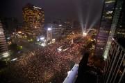 Les manifestants ont appelé au départ de la... (Photo Ahn Young-joon, AP) - image 1.0