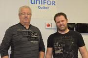 Daniel Leblond et Pascal Cloutier sont heureux que... (Archives Le Quotidien, Louis Potvin) - image 2.0