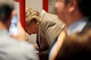 Hillary Clinton vote dans une école près de... (photo Brian Snyder, REUTERS) - image 2.0