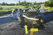 Cette photo de la scène d'accident montre en... (Photo Le Quotidien, Jeannot Lévesque) - image 3.0