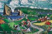 Gaspésie, 1941, Marc-Aurèle Fortin (1888-1970),huile sur panneau, 78,7cm... (Photo fournie par Heffel) - image 2.0