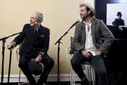 Leonard et Adam Cohen à la sortie du... (Sony Music Canada, Frank Micelotta) - image 4.0