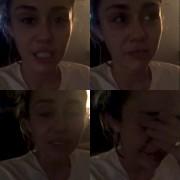 Miley Cyrus en larmes devant les résultatsélectoraux américains.... (Images tirées d'une vidéo) - image 4.0