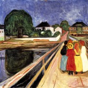 """Girls on a Bridge"" by Edvard Munch, an... - image 1.0"