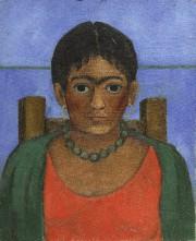 Le portrait peint en 1929, intituléNiña con collar(Fille... (AP) - image 1.0
