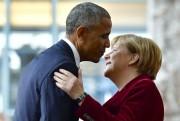 Barack Obama et Angela Merkel.... (Photo John MacDougall, Agence France-Presse) - image 2.0