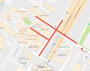Les rues fermées (en rouge) pour le week-end.... - image 2.0