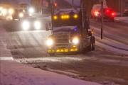 Un camion lourd valsait en tentant de monter... (Patrick Sanfaçon, La Presse) - image 1.0