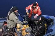 Après 2h30 sous l'eau, le plongeur est remonté... (Photo Le Quotidien, Rocket Lavoie) - image 1.0