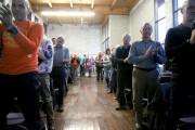 Les citoyens de Bromont ont démontré leur joie... (Photo Julie Catudal, La Voix de l'Est) - image 1.0