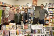 Maximilien Bouchard (extrême droite), propriétaire de la librairie... (Photo Le Progrès-Dimanche, Jeannot Lévesque) - image 2.0