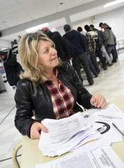La conseillère municipale Christine Boivin était sur place... (Photo Le Progrès-Dimanche, Rocket Lavoie) - image 1.0