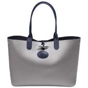 Sac shopping Roseau réversible argent/marine (735 $)... - image 2.0