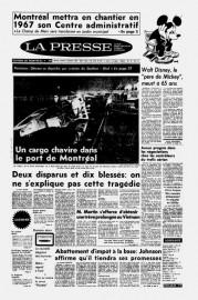 Aperçu de la une de La Presse le... (Image tirée des archives de La Presse) - image 3.0