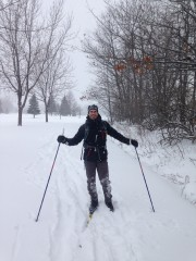 Patrick Hivon skie souvent tout près de chez... (Photo fournie par Patrick Hivon) - image 3.0