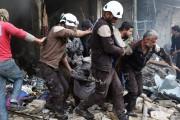 Dans un communiqué, ces Casques blancs, qui figuraient... (photo Mohamed al-Bakour, archives AFP) - image 3.0