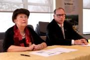 La mairesse de Bromont, Pauline Quinlan, et le... (Janick Marois, La Voix de l'Est) - image 1.0
