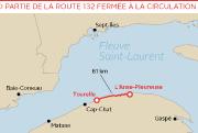 La mer a littéralement arraché la route132 en... (Infographie Le Soleil) - image 1.0