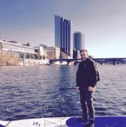 John Helmholdt en planche à pagaie sur la... (PHOTO FOURNIE PAR JOHN HELMHOLDT) - image 2.0