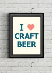 Les beer geeks raffoleront de l'affiche I Love Craft... (PHOTO TIRÉE DU SITE ETSY) - image 5.0