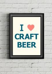 Les beer geeksraffoleront de l'affiche I Love Craft... (PHOTO TIRÉE DU SITE ETSY) - image 5.0