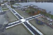 Prise de vue du centre-ville avec un drone... (Fournie par Patrick Guénette) - image 2.0
