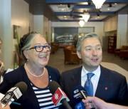La ministre fédérale du Revenu, Diane Lebouthillier et... (Sylvain Mayer) - image 8.0