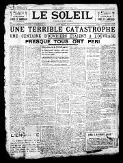 30 août 1907«UNE TERRIBLE CATASTROPHE»... - image 1.0