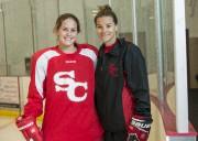 Alexia Guay et l'entraineure Sarah Vaillancourt.... (Archives, La Tribune) - image 1.0