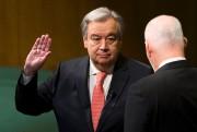 Le PortugaisAntonio Guterres lors de son assermentation à... (Archives AFP, Eduardo Munoz Alvarez) - image 2.0