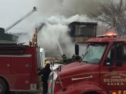 Un incendie majeur s'est déclaré dans un... (Spectre Média, Jessica Garneau) - image 3.0