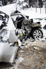La collision entre les deux véhicules a été... (Caroline Bérubé) - image 1.0